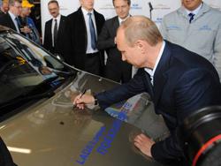 Путин и Лада Ларгус 04.04.12